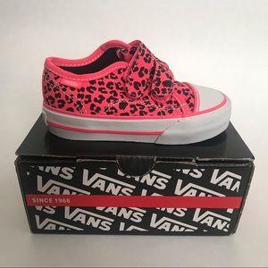 Vans Hot Pink Leopard Print Toddler Shoes